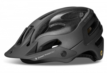 Casque All Mountain Sweet Protection Bushwhacker II Carbon Mips Noir Gris Anthracite Mat