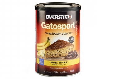 Gâteau Energétique Overstims Gatosport Banane - Feuilles de chocolat 400g