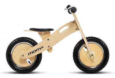 Bicicleta sin pedales Moma Bikes Woody Classic 12'' 12'' Beige
