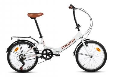 Moma Bikes Bicicleta Plegable Urbana SHIMANO FIRST CLASS 20' Alu, 6V. Sillin Confort