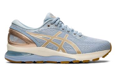 Chaussures de Running Femme Asics Gel Nimbus 21 Bleu / Or