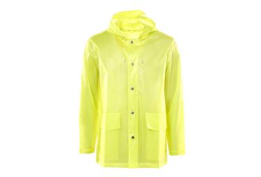 Rains LTD Short Hooded Coat Foggy Neon Yellow