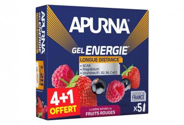 Gel Énergétique Apurna Longue Distance Fruits Rouges 5x35g