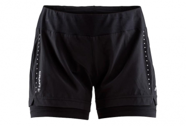Craft Womens Running Short Essential 2 In 1 Black M
