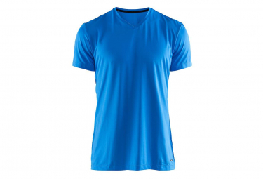 Maillot Manches Courtes Craft Essential Col V Haven / Bleu
