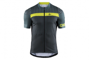 Craft Short Sleeves Jersey Route Black / Yellow