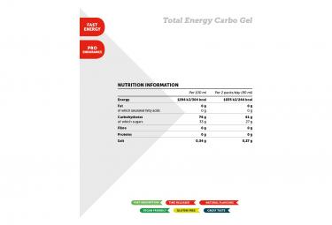 Gel Énergétique NamedSport Total Energy Carbo 40ml Agrumix