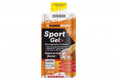 Image of Gel energetique namedsport sport gel 25ml the peche citron