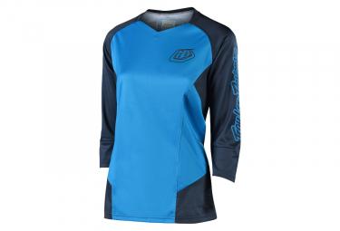 Troy Lee Designs Ruckus Solid Woman 3 4 Sleeves Jersey Azul L