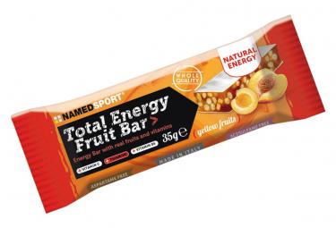 Barre Énergétique NamedSport Total Energy Fruit Bar 40g Fruits Jaune