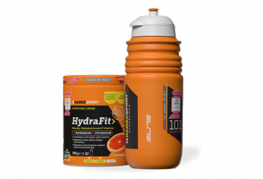 Boisson Energétique NamedSport Hydrafit 400g Orange + Bidon