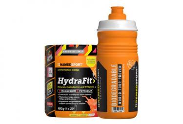Boisson Energétique NamedSport Hydrafit 400g Orange + Bidon