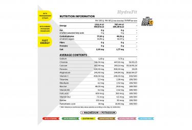 Bebida energética NamedSport Hydrafit 400 g Naranja + lata