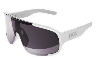 Paire de lunettes poc aspire clarity blanc hydrogen miroir argent violet