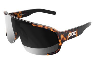 Poc Aspire Clarity Glasses Tortoise Brown / Violet Silver Mirror