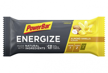 Image of Barre energetique powerbar energize natural ingredients amande vanille 55 g