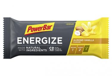Barre Énergétique PowerBar Energize Natural Ingredients Amande Vanille 55 g
