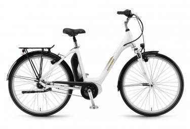 Winora Sima N7 Monotube City e-Bike 400Wh Shimano Nexus 7S Coaster Brake White