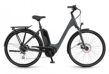 Vélo de Ville Électrique Winora Tria 8 Monotube 400Wh Shimano Acera 8V Gris