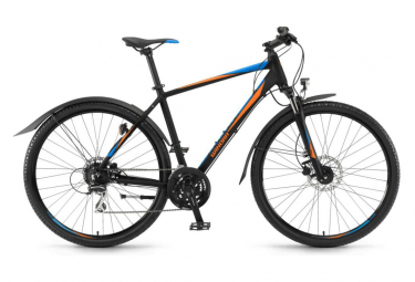 Winora Samoa 28'' City Bike Shimano Acera 3x8S Black / Orange / Blue