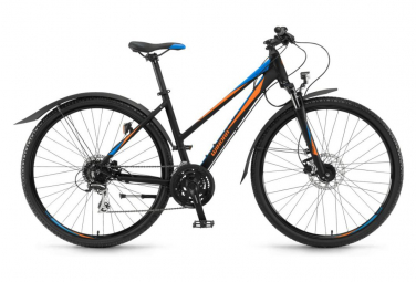 Winora Samoa Women City Bike Shimano Acera 3x8S Black / Orange / Blue