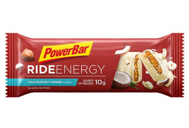 Barre Énergétique PowerBar Ride Energy Noix de Coco Noisette Caramel 55 g