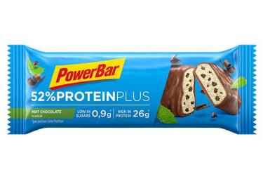 Barre Protéinée PowerBar 52% Protein Plus Menthe Chocolat 50 g