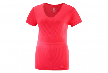Maillot Manches Courtes Femme Salomon Elevate Move'On Rouge