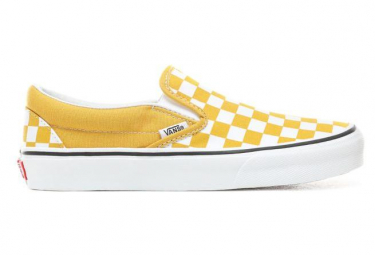 Vans UA Shoes Classic Slip-On CheckerBoard Yellow / White