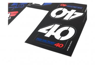 Kit Stickers Fox Racing Shox Heritage Bleu/Blanc/Rouge