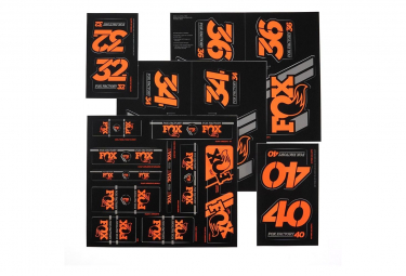 Kit Stickers Fox Racing Shox Heritage Orange