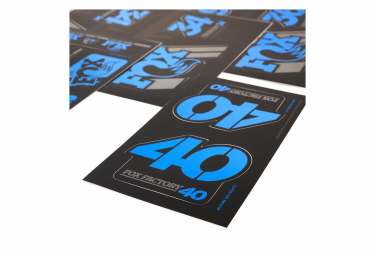 Kit Stickers Fox Racing Shox Heritage Bleu