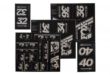Kit Stickers Fox Racing Shox Heritage Noir Stealth