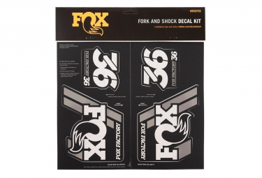 Fox Racing Shox Stickers Heritage 2019 Silver
