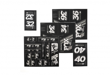 Fox Racing Shox Stickers Heritage 2019 Silver