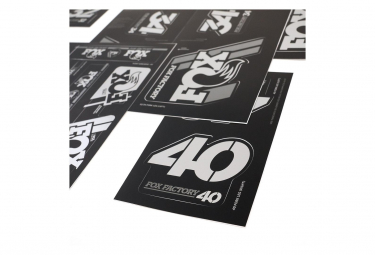 Kit Stickers Fox Racing Shox Heritage Argent
