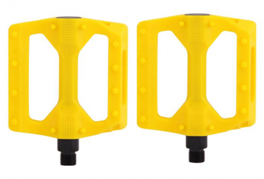 SB3 Raw Nylon Flat Pedals - Yellow