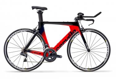 Vélo de Triathlon Cervélo P3 Rim Shimano Ultegra Di2 8060 11V Noir Rouge Bleu Marine