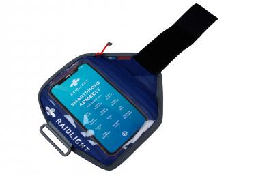 Brassard téléphone Raidlight Bleu Gris
