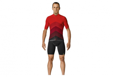Mavic Short Sleeves Jersey Cosmic Gradient Red / Black