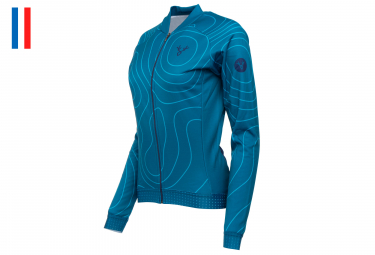 LeBram Megève Women Long Sleeves Jersey Petrol Blue Adjusted Fit