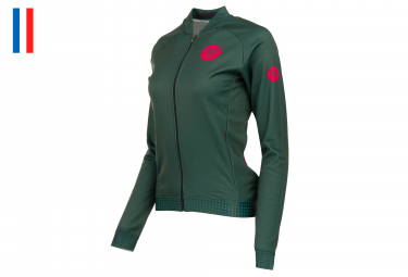 LeBram Eze Women Long Sleeves Jersey Bourgogne Green Adjusted Fit