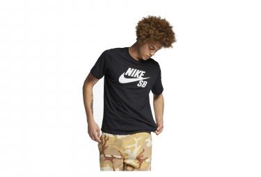 Nike SB T-Shirt Short Sleeves Dri-Fit Black / White