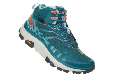 Hoka Outdoor Shoes Sky Toa Blue Green Women
