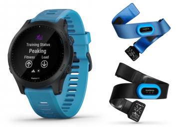 Garmin Forerunner 945 Pack Triathlon GPS Watch Black With Blue Coloured Band