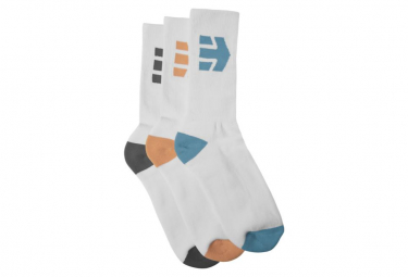 Etnies Direct 3 Pack Socks White / Multi (Pack of 3 pairs)