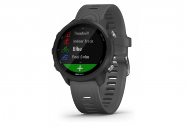 Garmin forerunner 245 gps watch black with dark grey coloured band