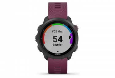 Garmin Forerunner 245 GPS Watch Black With Merlot Coloured Band