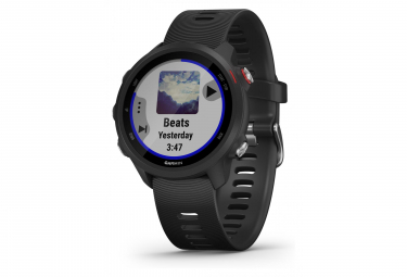 Garmin Forerunner 245 Music GPS Watch Black With Black Coloured Band