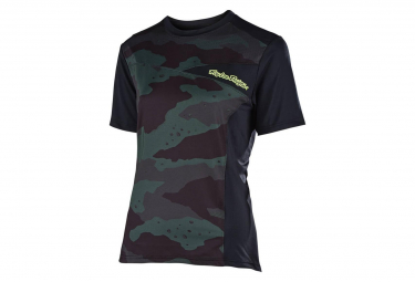 Troy Lee Designs Women Short Sleeves Jersey Skyline Solid Camo / Black